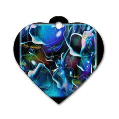 Water Is The Future Dog Tag Heart (two Sides)