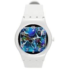 Water Is The Future Round Plastic Sport Watch (M)
