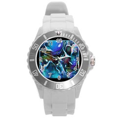 Water Is The Future Round Plastic Sport Watch (l)