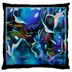 Water Is The Future Large Cushion Case (two Sides)