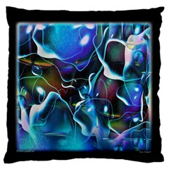 Water Is The Future Large Flano Cushion Case (two Sides)