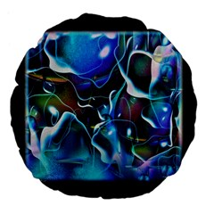 Water Is The Future Large 18  Premium Flano Round Cushions