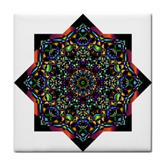 Mandala Abstract Geometric Art Tile Coasters