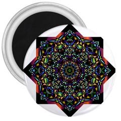 Mandala Abstract Geometric Art 3  Magnets