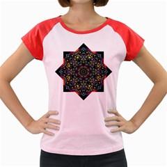 Mandala Abstract Geometric Art Women s Cap Sleeve T Shirt