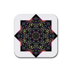 Mandala Abstract Geometric Art Rubber Coaster (square)