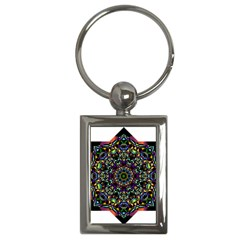 Mandala Abstract Geometric Art Key Chains (Rectangle)