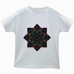 Mandala Abstract Geometric Art Kids White T Shirts