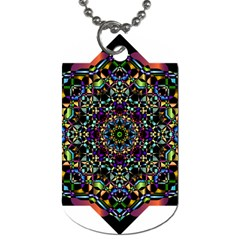 Mandala Abstract Geometric Art Dog Tag (one Side)