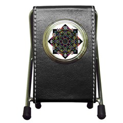 Mandala Abstract Geometric Art Pen Holder Desk Clocks