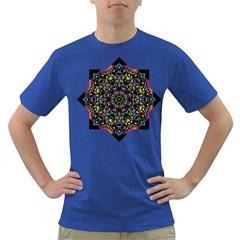 Mandala Abstract Geometric Art Dark T Shirt