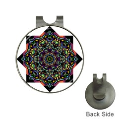 Mandala Abstract Geometric Art Hat Clips With Golf Markers