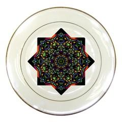 Mandala Abstract Geometric Art Porcelain Plates