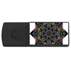 Mandala Abstract Geometric Art Usb Flash Drive Rectangular (4 Gb)