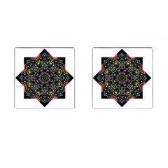 Mandala Abstract Geometric Art Cufflinks (square)