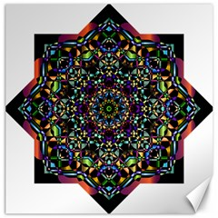 Mandala Abstract Geometric Art Canvas 16  x 16