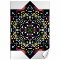 Mandala Abstract Geometric Art Canvas 20  x 30