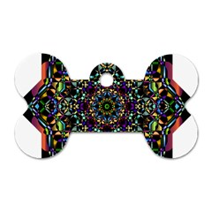Mandala Abstract Geometric Art Dog Tag Bone (Two Sides)