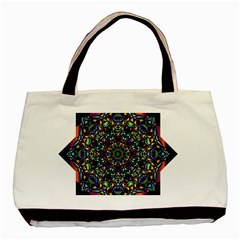 Mandala Abstract Geometric Art Basic Tote Bag (two Sides)