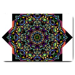 Mandala Abstract Geometric Art Large Doormat