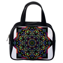 Mandala Abstract Geometric Art Classic Handbags (one Side)