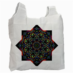 Mandala Abstract Geometric Art Recycle Bag (one Side)