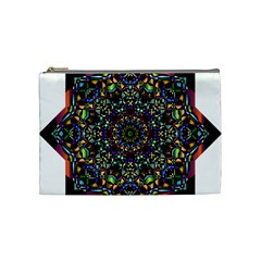 Mandala Abstract Geometric Art Cosmetic Bag (Medium)