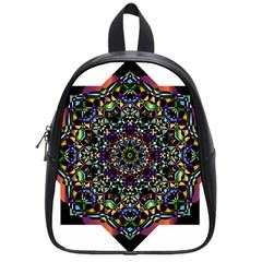 Mandala Abstract Geometric Art School Bags (small)