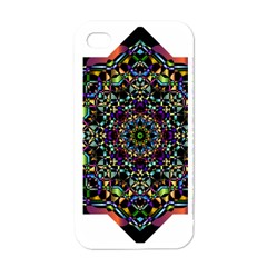 Mandala Abstract Geometric Art Apple Iphone 4 Case (white)
