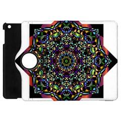 Mandala Abstract Geometric Art Apple Ipad Mini Flip 360 Case