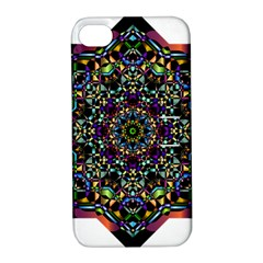 Mandala Abstract Geometric Art Apple Iphone 4/4s Hardshell Case With Stand