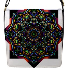Mandala Abstract Geometric Art Flap Messenger Bag (S)