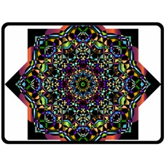 Mandala Abstract Geometric Art Double Sided Fleece Blanket (large)