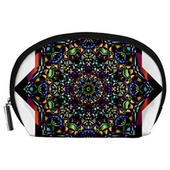 Mandala Abstract Geometric Art Accessory Pouches (Large)