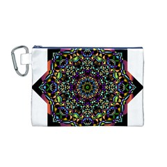Mandala Abstract Geometric Art Canvas Cosmetic Bag (m)