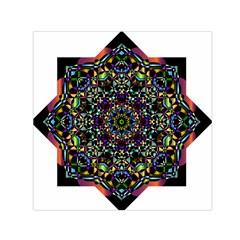 Mandala Abstract Geometric Art Small Satin Scarf (square)