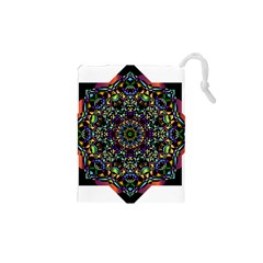 Mandala Abstract Geometric Art Drawstring Pouches (xs)