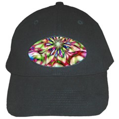 Magic Fractal Flower Multicolored Black Cap