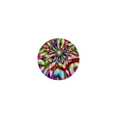Magic Fractal Flower Multicolored 1  Mini Buttons