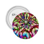 Magic Fractal Flower Multicolored 2.25  Buttons Front
