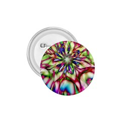 Magic Fractal Flower Multicolored 1.75  Buttons
