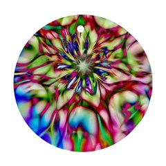Magic Fractal Flower Multicolored Ornament (Round)