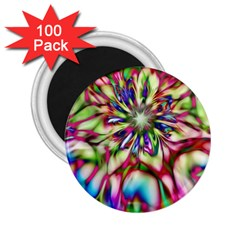 Magic Fractal Flower Multicolored 2.25  Magnets (100 pack)