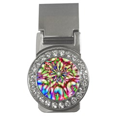 Magic Fractal Flower Multicolored Money Clips (CZ)