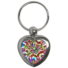 Magic Fractal Flower Multicolored Key Chains (Heart)