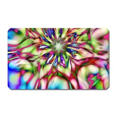 Magic Fractal Flower Multicolored Magnet (Rectangular)