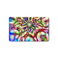 Magic Fractal Flower Multicolored Magnet (Name Card)