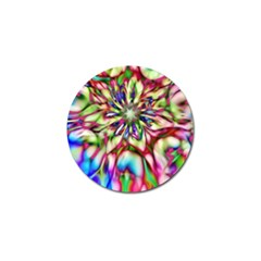 Magic Fractal Flower Multicolored Golf Ball Marker (4 pack)