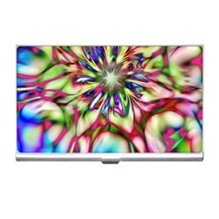 Magic Fractal Flower Multicolored Business Card Holders