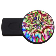 Magic Fractal Flower Multicolored USB Flash Drive Round (2 GB)